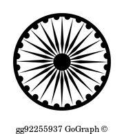 Ashoka Chakra Clip Art.