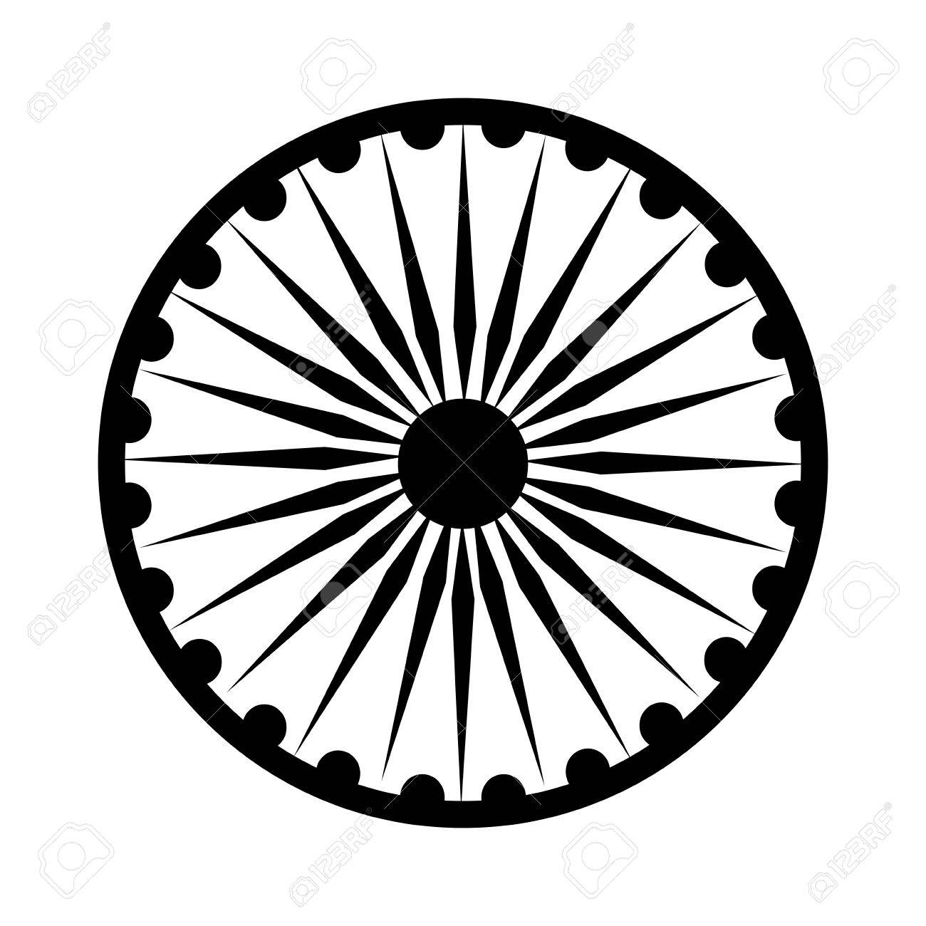 Ashoka Chakra symbol » Clipart Station.