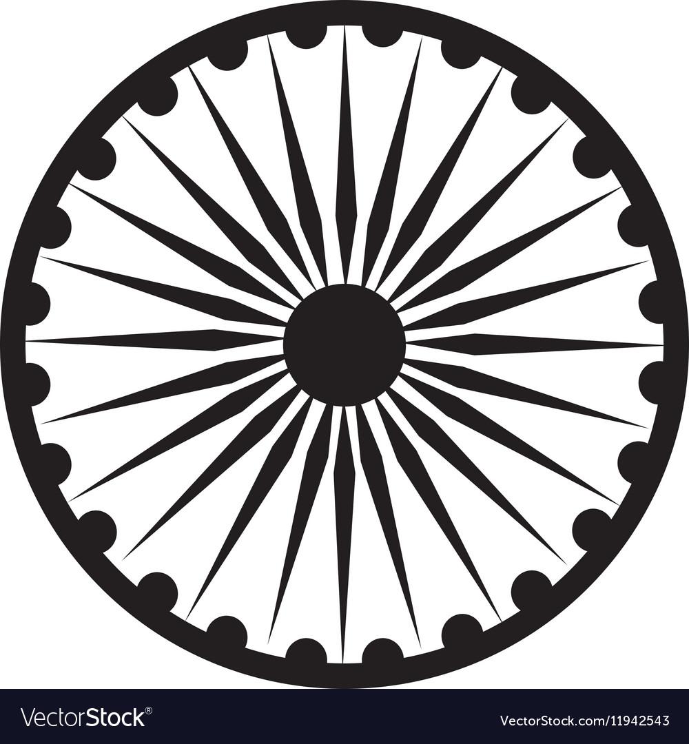 Ashoka Chakra symbol.
