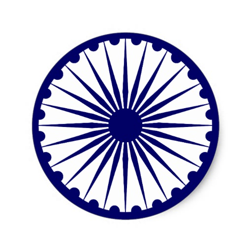 Best Ashoka Chakra Indian Flag Png Clipart #46985.