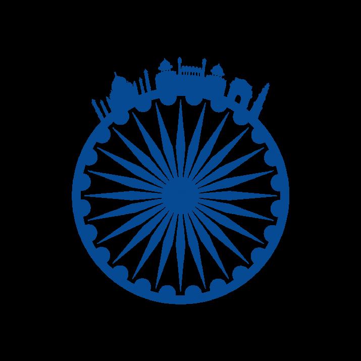 Ashoka Chakra India Transpare PNG.
