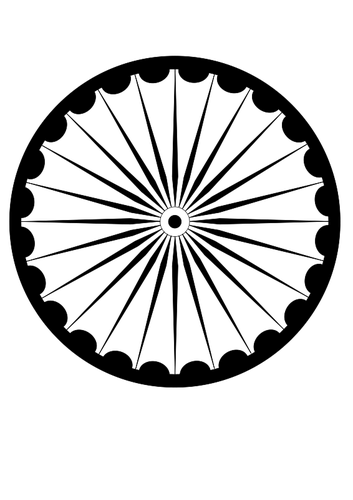 Ashok Chakra symbol vector image.