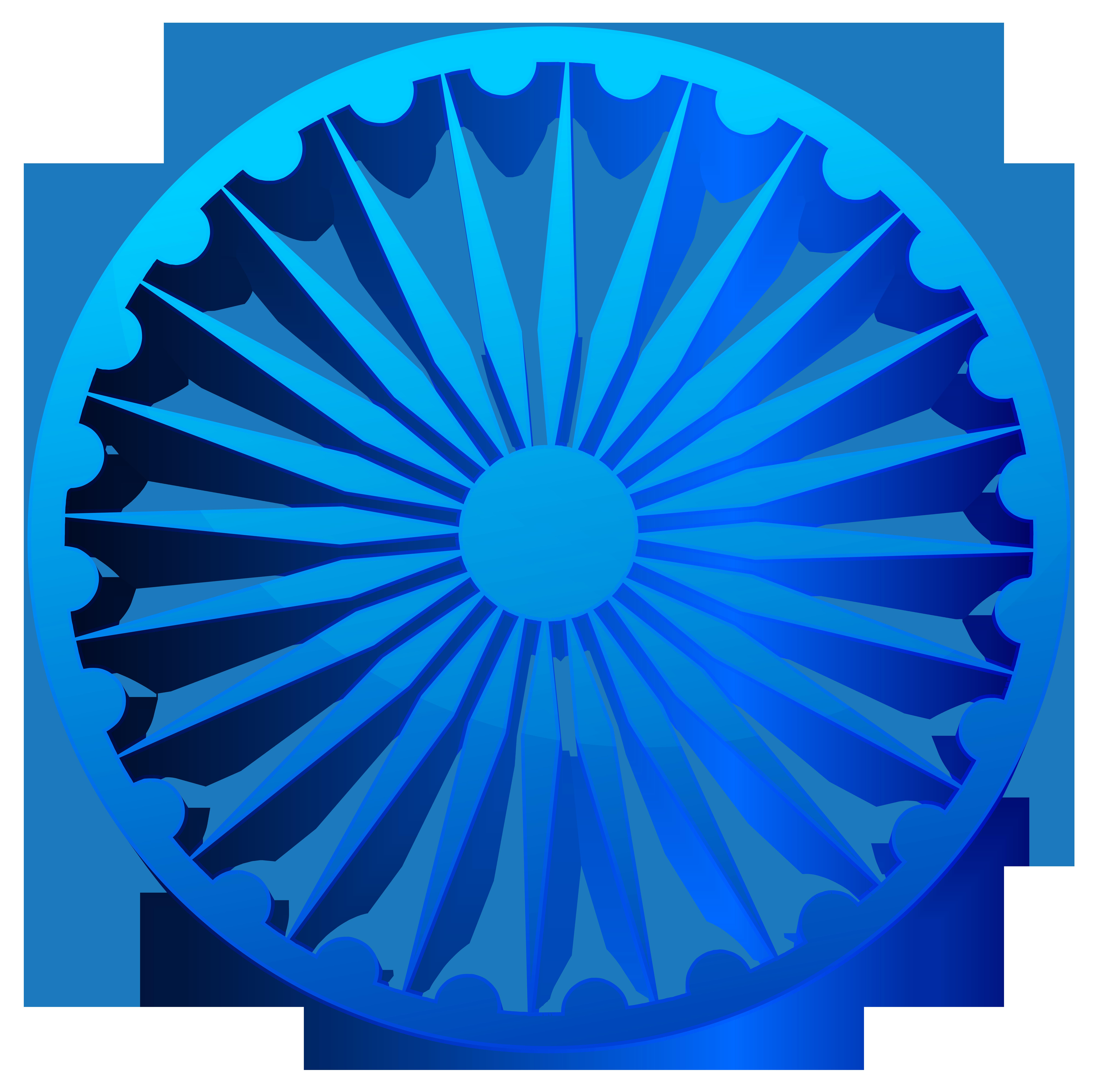 Ashoka Chakra India Transparent PNG Clip Art Image.