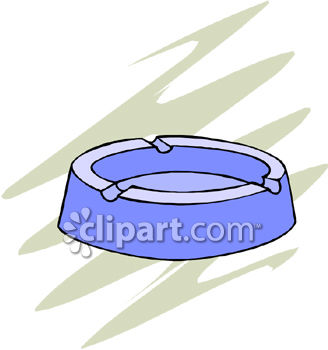Clipart Picture of a Blue Ashtray.
