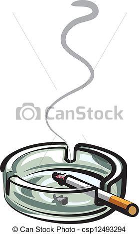 EPS Vectors of cigarette in ashtray csp12493294.