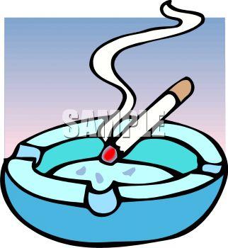 "an ashtray"" clip art image."