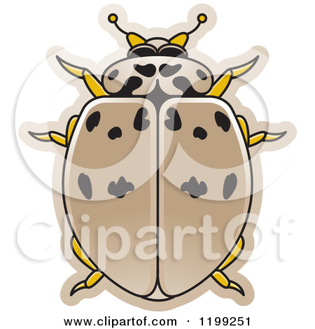 Clipart of a Silver Robot Beetle.
