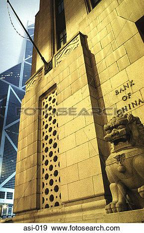 Stock Photograph of Bank of China Building Hong Kong asi.