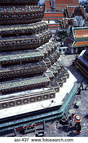 Picture of View of Tiled Tower Bangkok Thailand Asia asi.