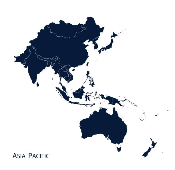 Best Asia Pacific Map Illustrations, Royalty.