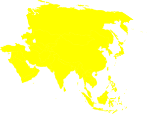Asia clipart map.