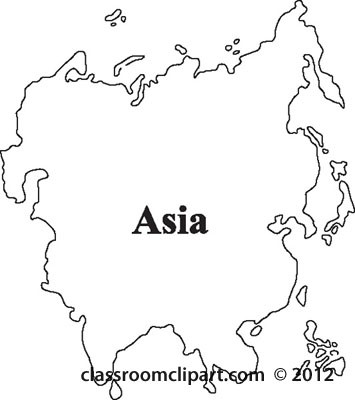 Black Clipart Map Of Asia.