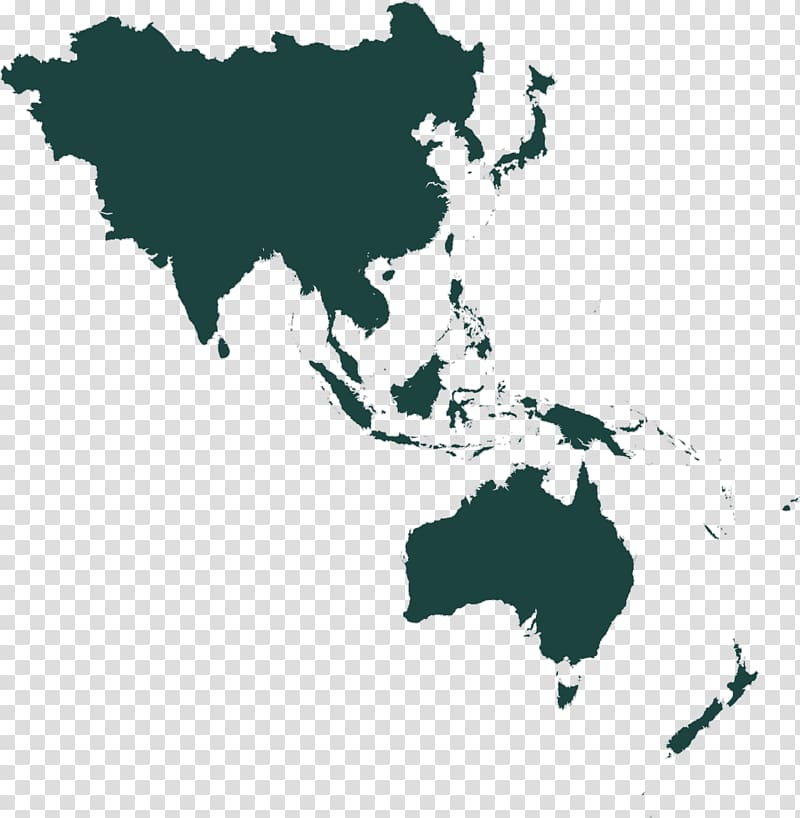 Green continent illustration, Asia.