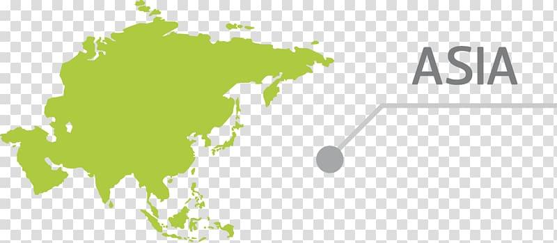 Asia Earth World Globe Map, creative design green Asian.