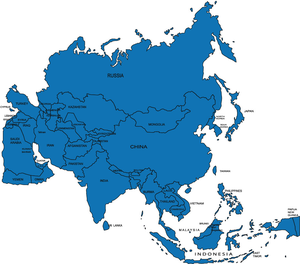 Continent Asia Clipart.