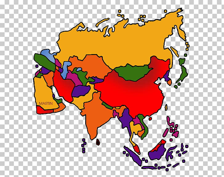 Open Southeast Asia Free content Map, Asia Continent PNG.
