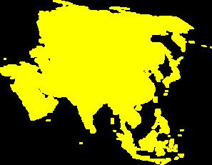 Asian Continent Yellow Clip Art at Clker.com.