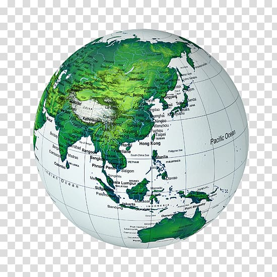 Asia Globe World map World map, Earth Model transparent.