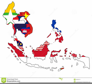 Asia Pacific Map Clipart.
