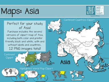 Maps: Asia (clipart).