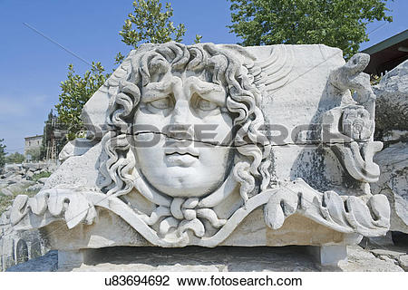 Stock Photo of Medusa head, close.