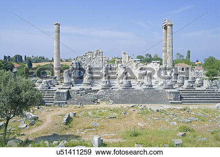 Stock Photograph of Temple of Apollo, Didyma, Anatolia, Turkey.
