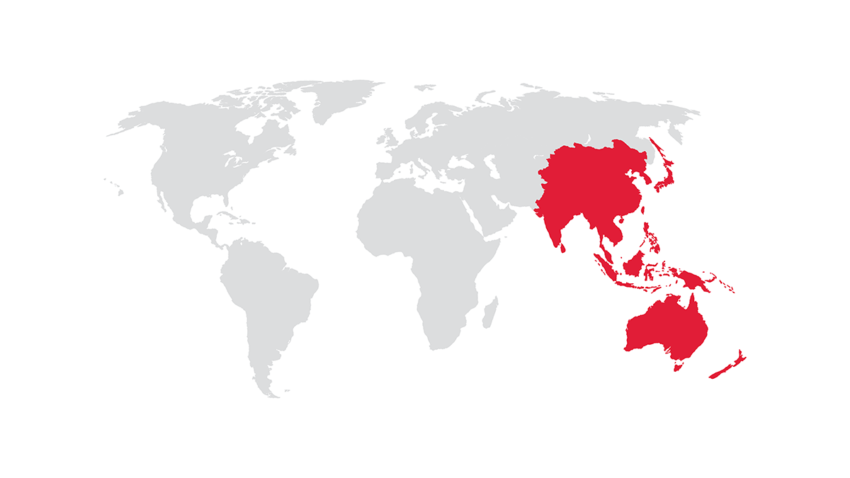 Operations Based in Asia.