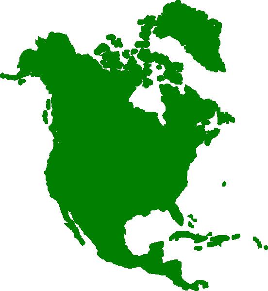 North America Continent Clip Art.
