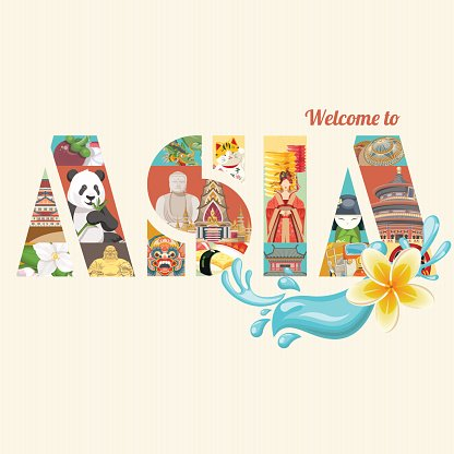 Vector Banner With Asia Travel Theme premium clipart.