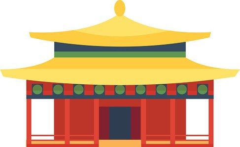 Beautiful asia travel temple vector Clipart Image.