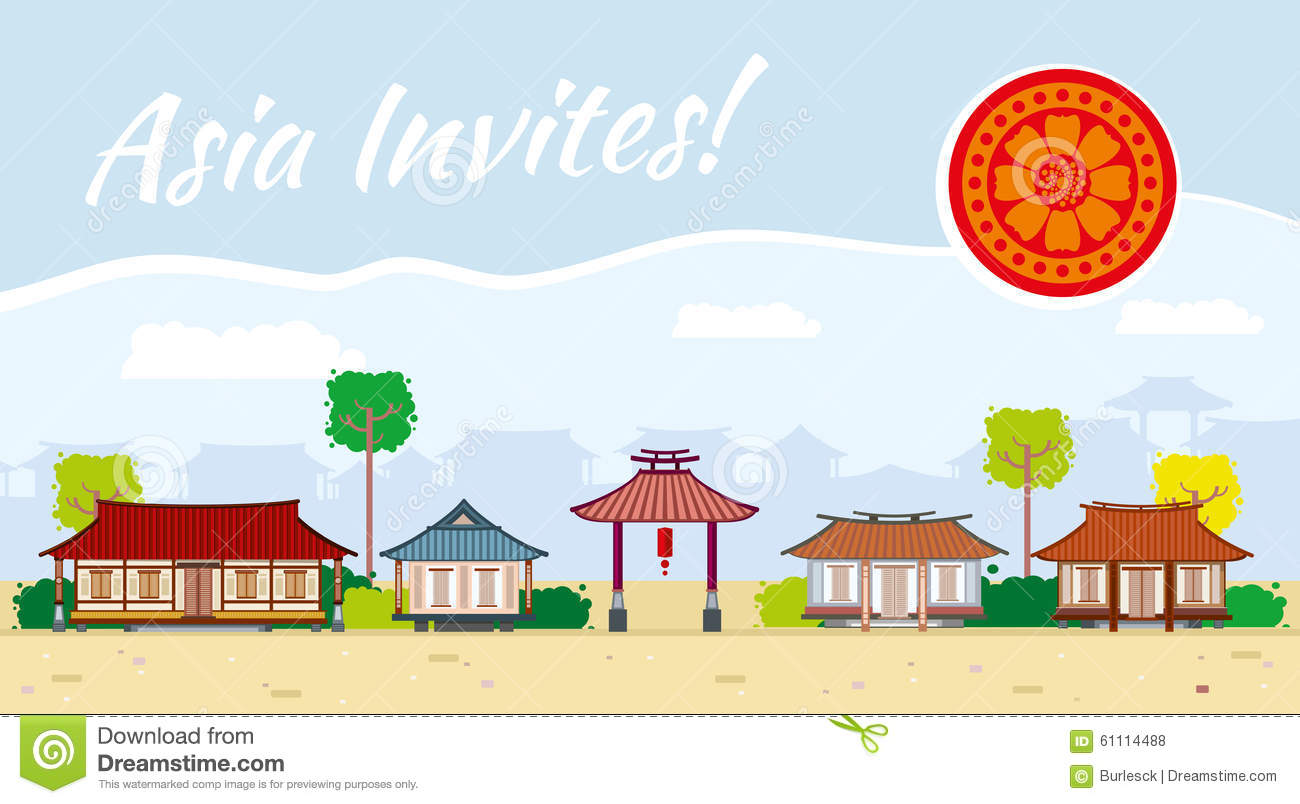 Travel Asia Clipart.