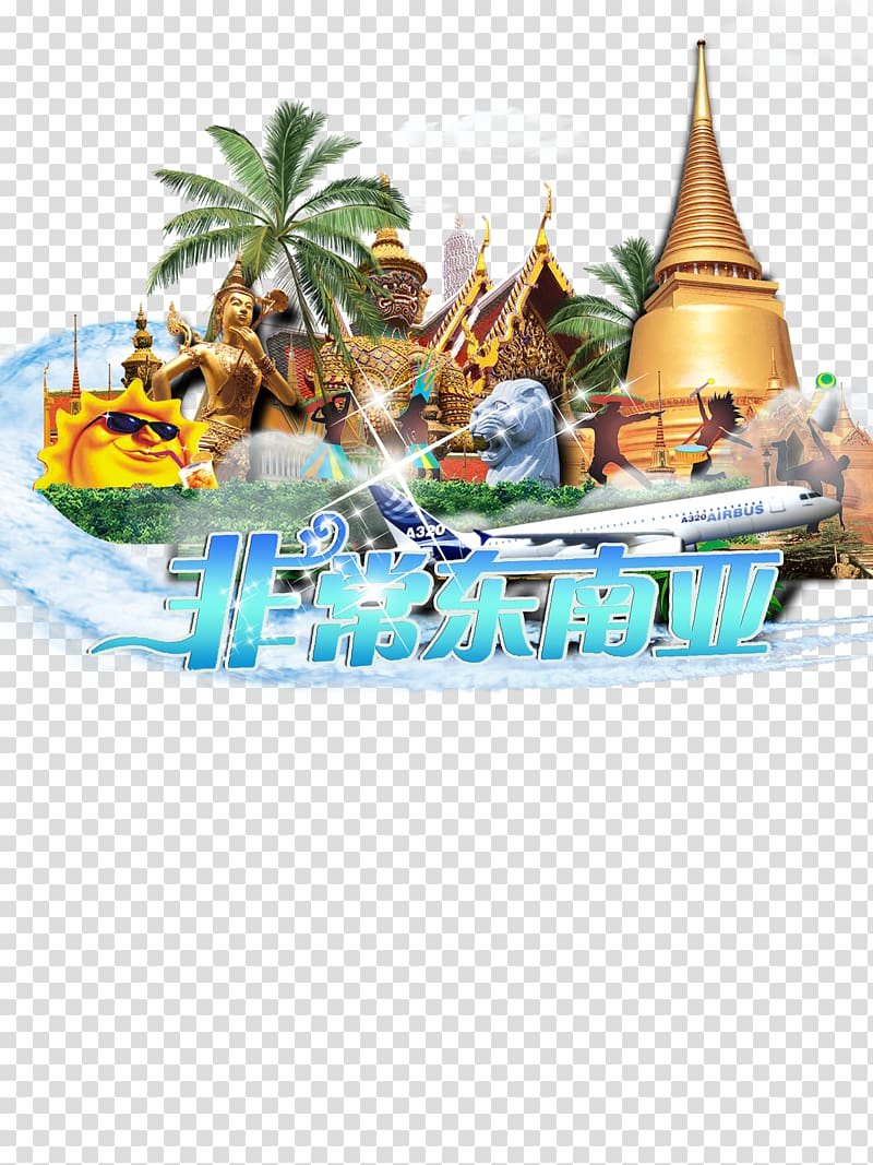 Thailand Tourism Poster Travel, Southeast Asia transparent.