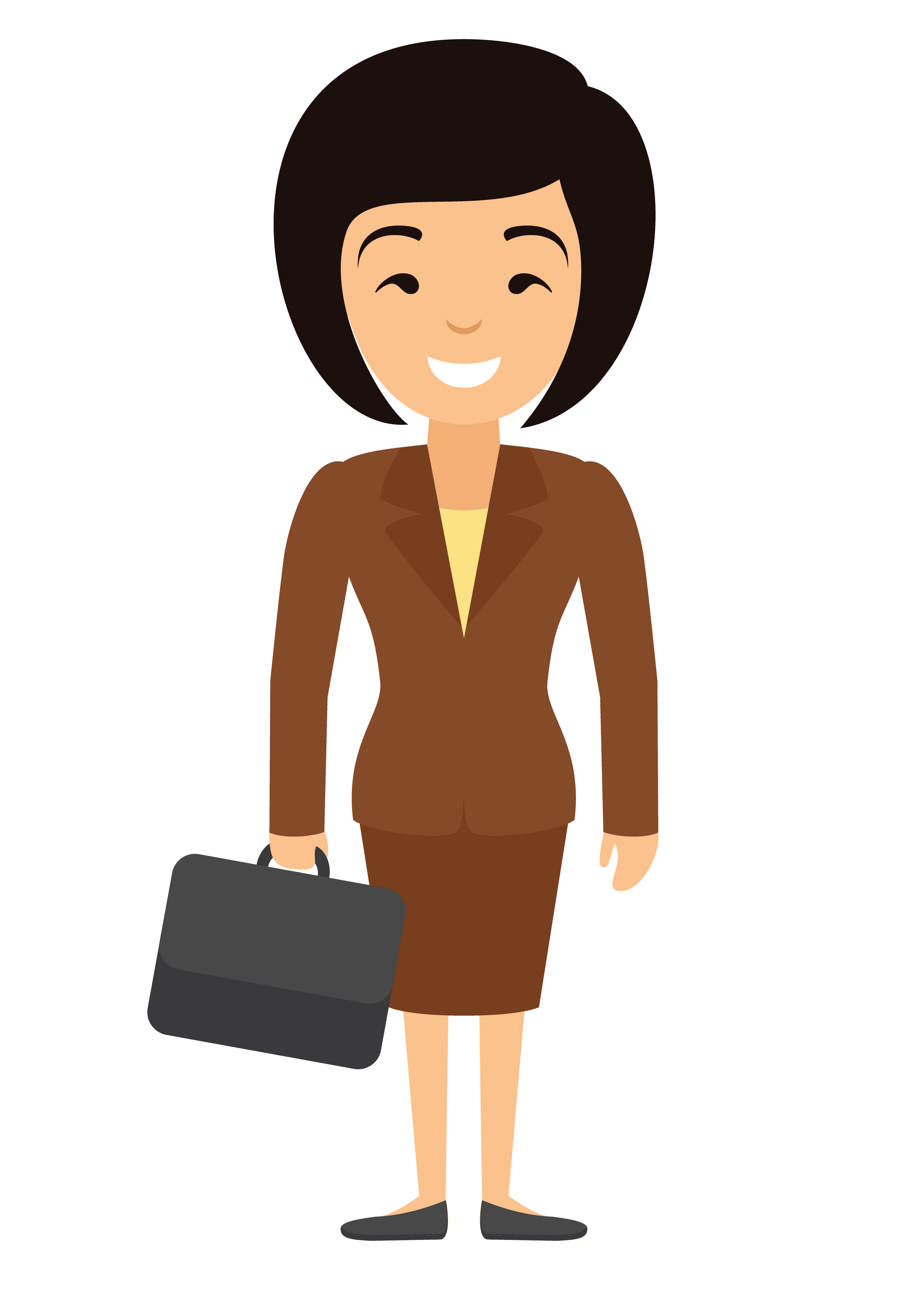 Vector illustration of asian businesswoman character with.