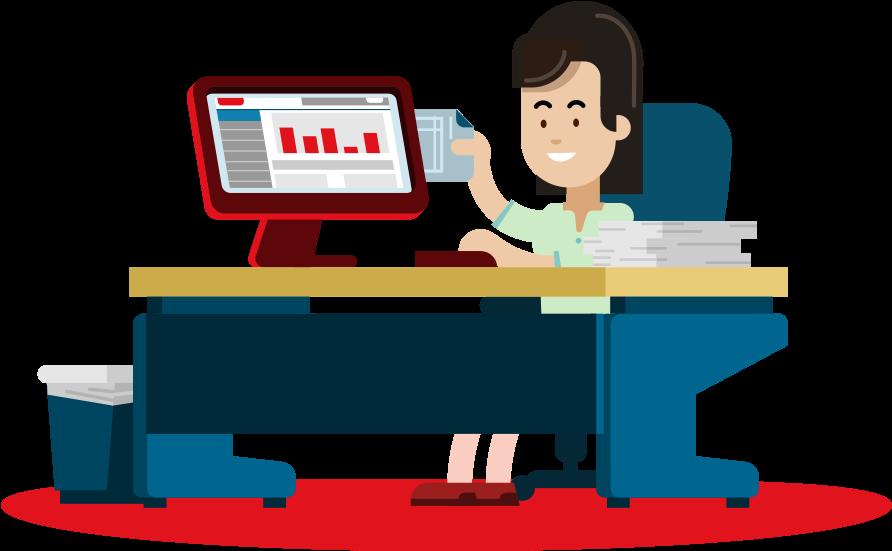 Clip Art Free Library Accountant Clipart Desk.