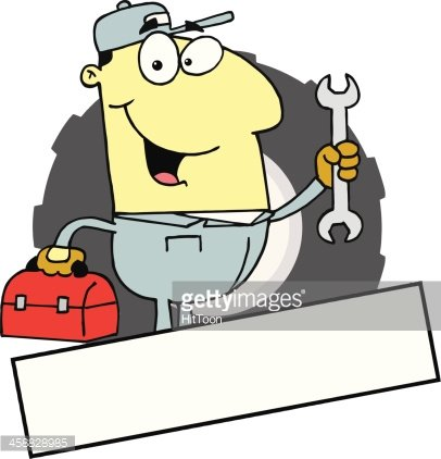 Asian American Mechanic Holding A Wrench Clipart Image.