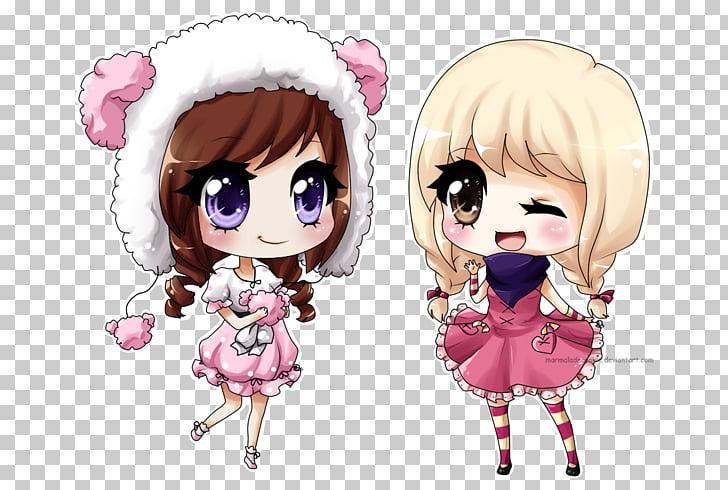 Chibi Hello Kitty Mangaka Drawing Kavaii, asian anime PNG.