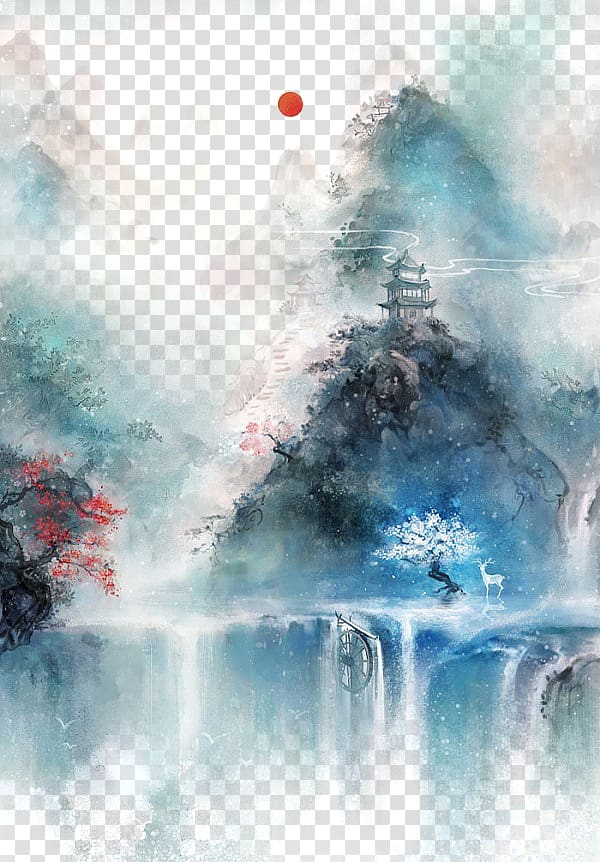 Chinese art Asian art Chinese painting Illustration.