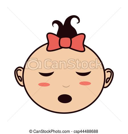 little asian baby icon.