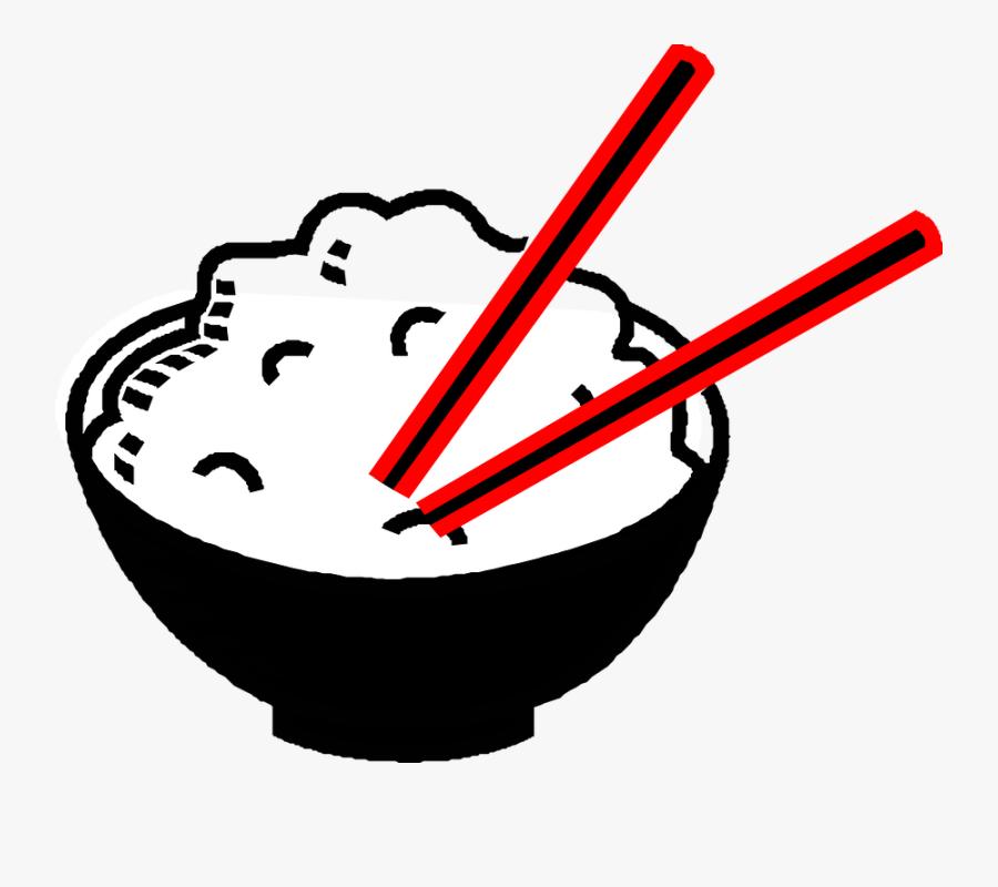 Rice, Bowl, Chopsticks, Asian, Food, Drawing, Chinese.