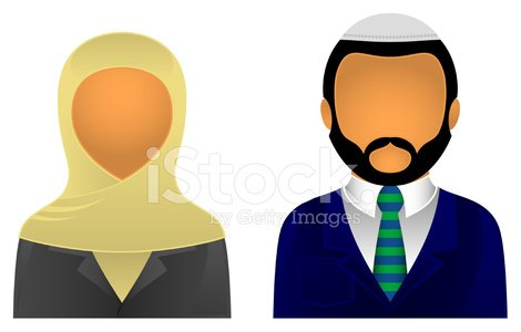 Asian Business & Office Avatars Clipart Image.
