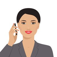 Portrait of Asian Businesswoman Talking on The Mobile Stock.