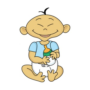 Asian Baby Clipart.