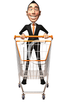 Royalty Free 3d Clipart Image of an Asian Businessman.