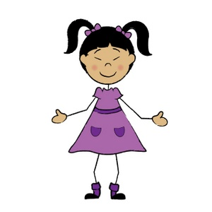 Asian children clip art.