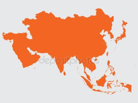 Shape of the Continent of Asia.