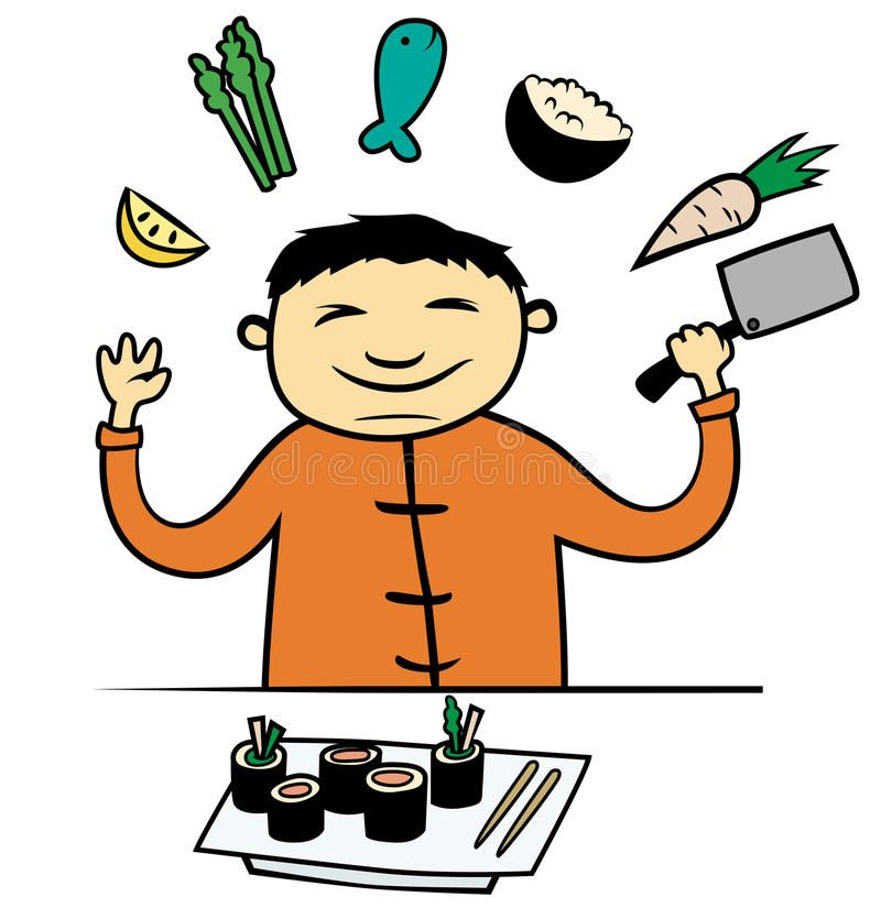 Photo about Cartoon vector illustration of Asian Chinese or.