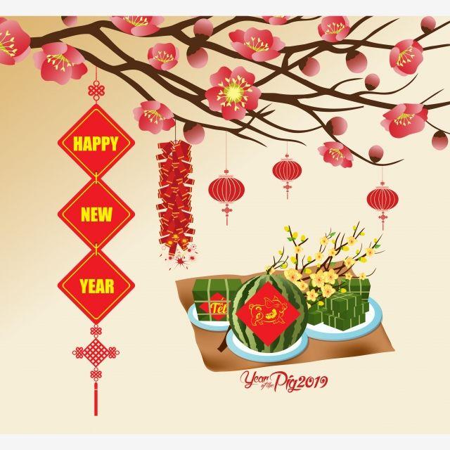 Chinese New Year, 2019, Pig, Lantern PNG Transparent Image.