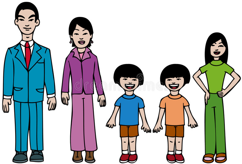 Asian Dad Stock Illustrations.