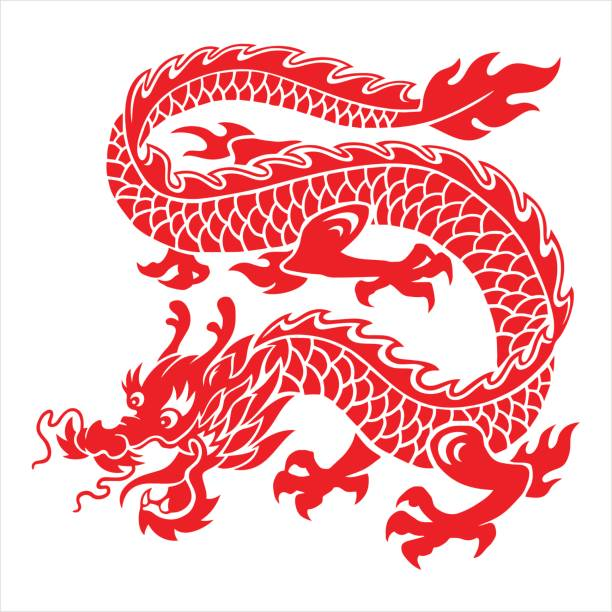 Best Chinese Dragon Illustrations, Royalty.