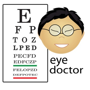 Asian Eye Doctor Occupation Icon.